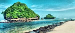 wisata alam pantai goa cina malang selatan