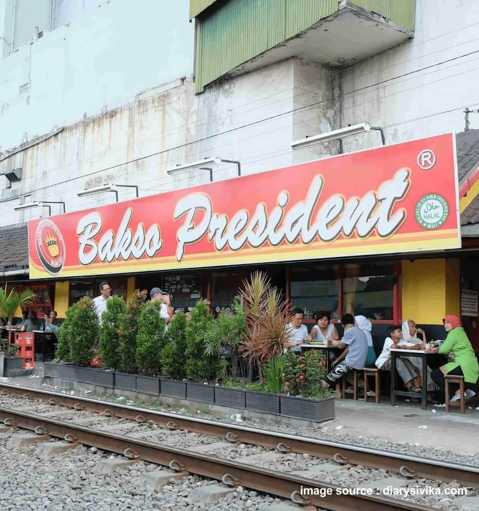 wisata kuliner bakso president