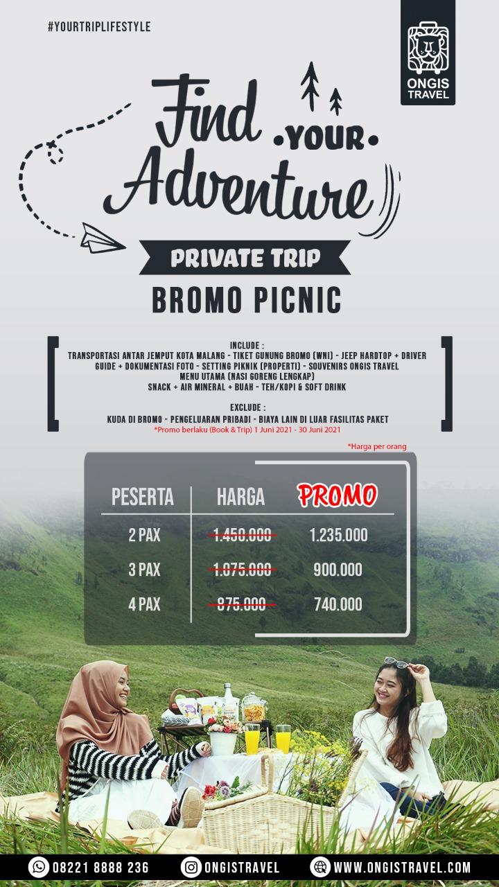 paket piknik bromo premium