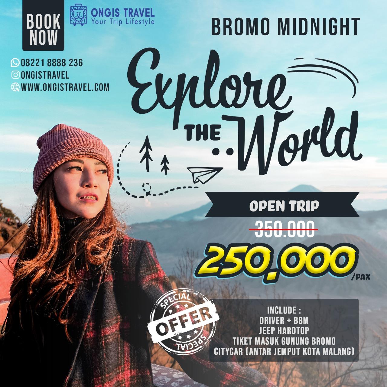 promo open trip bromo